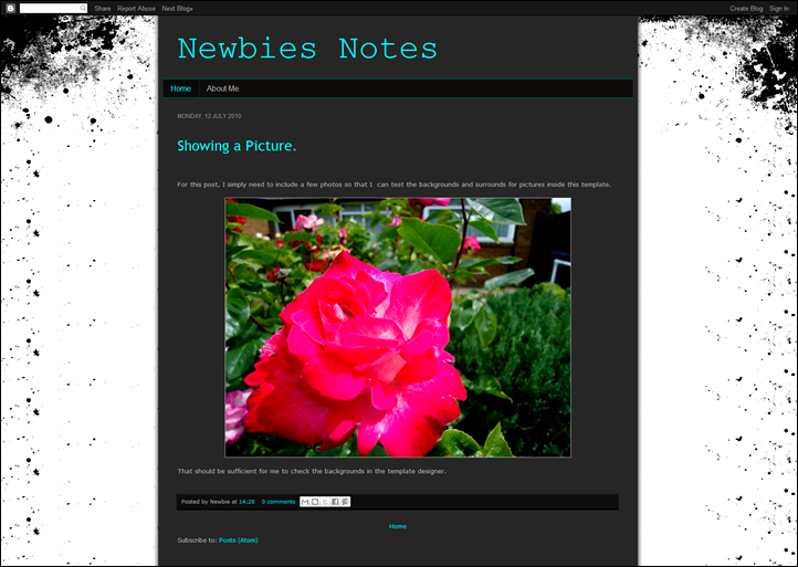 My newly designed blog