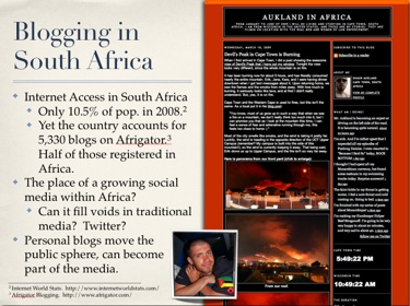 Blogging in South Africa CAS4005F