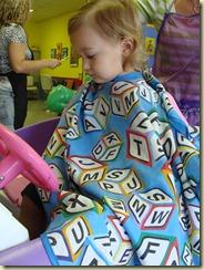 August 2010 - Camryn's first haircut (2)