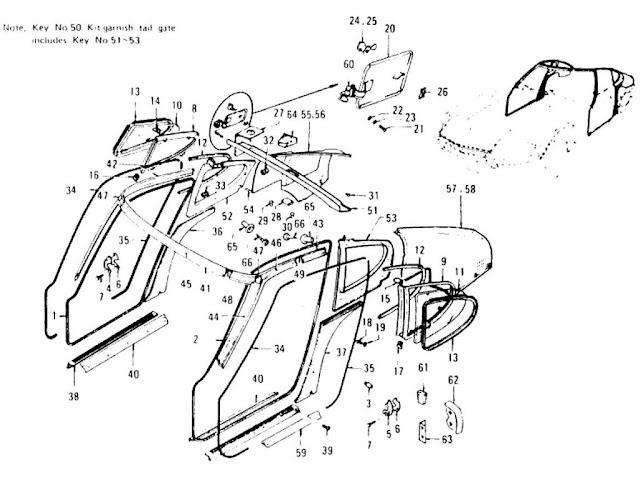 datsun 620 suspension parts diagram