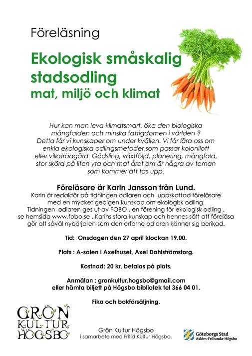 Föreläsning ekologisk småskalig odling1
