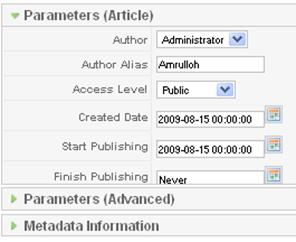 Parameter Artikel