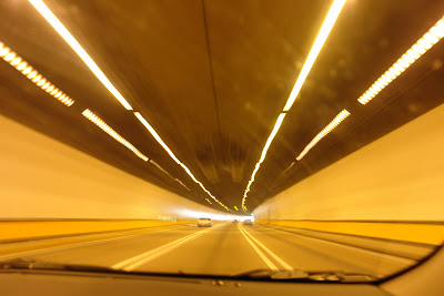 Highway 3 goes through numerous tunnels.