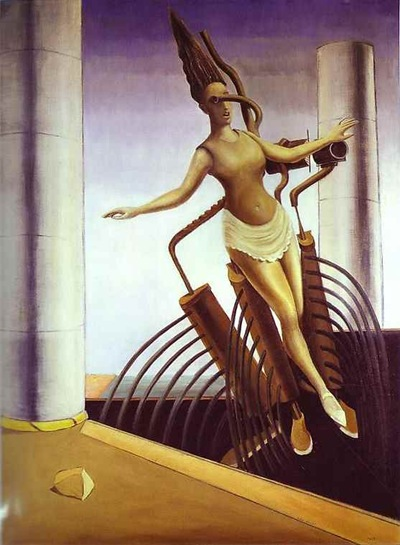 ernst the equivocal woman (teetering woman) 1923