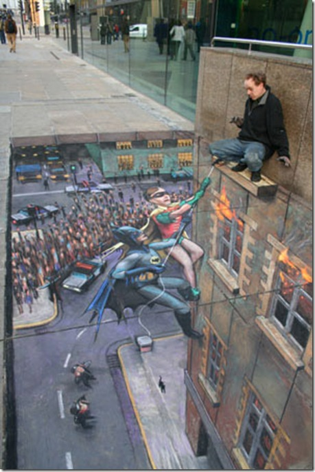 julian beever batman