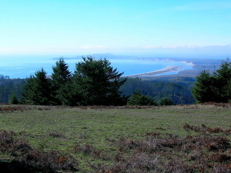 View of Drakes Bay near Mount Wittenberg