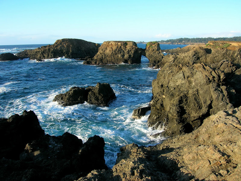 Rugged coastal scene