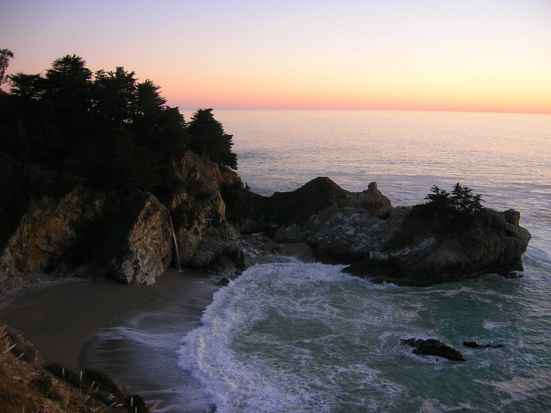 Post sunset glow at McWay Falls