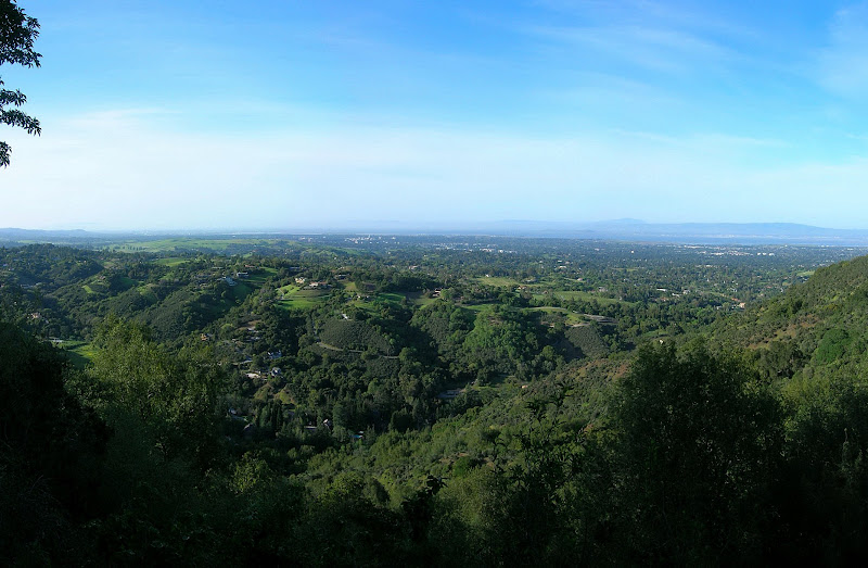 View of Los Altos Hills to Palo Alto