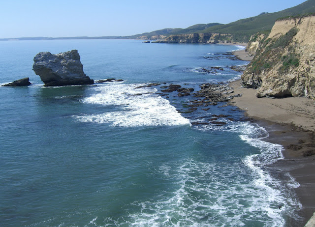 View north of Arch Rock to Drakes Bay