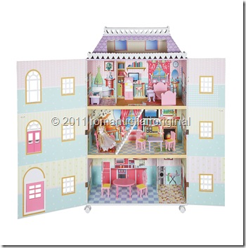 London Mansion Doll house opened