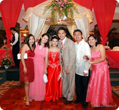 the kada + sheryl sardido by our pretty wedding gazebo =)