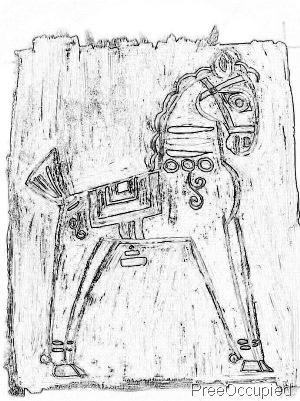 charcoal horse