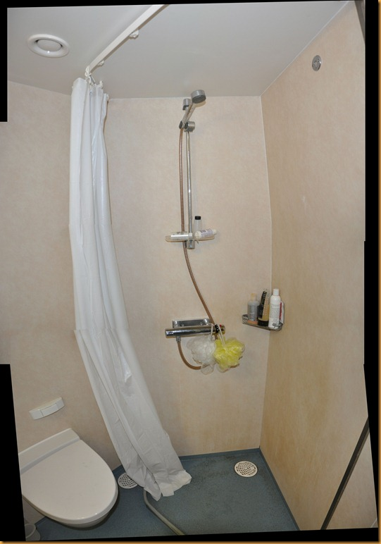 bathroom shower stitched