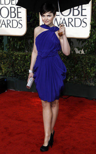 ginnifer goodwin critics choice awards 2010 blue dress Mavi Abiye Modelleri