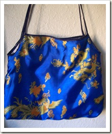 Pretty tote bag made with dragon fabric.
