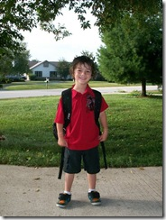 Caiden first day of kindergarten