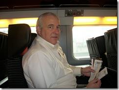 John on train