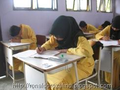 Suasana Ujian Semester Ganjil Bidang Studi Geografi  TP 2010