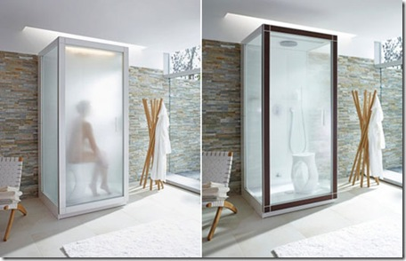 Modern Minimalist White Shower Cabin From By Phillip
