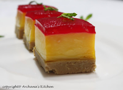 Custard Jelly Tart