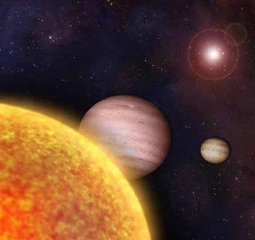 exoplanetas gasosos em órbita de um estrela