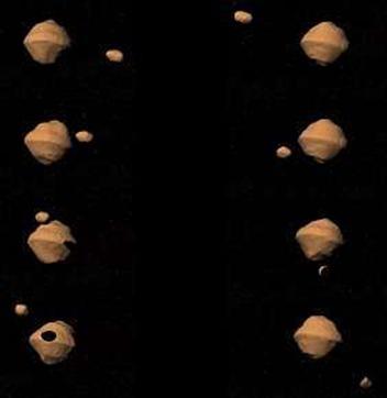 separação de par de asteroides