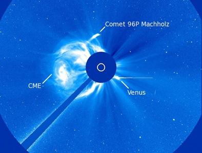 SOHO e o cometa Machholz