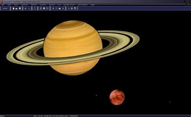 planetas Saturno e Marte