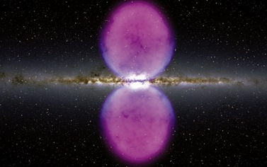 bolhas de raios gama na galáxia