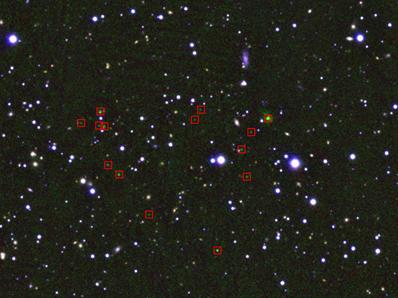 área de proto-aglomerado de galáxias 4C 23.56