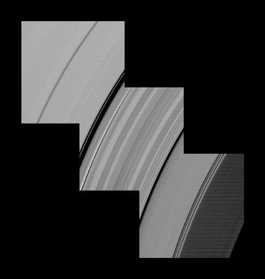 anéis C e D de Saturno