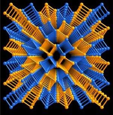 rede cristalina representando estruturas moleculares