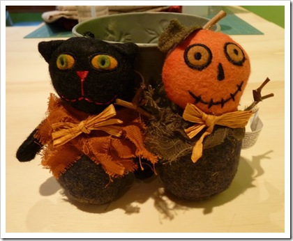 black cat & pumpkin man