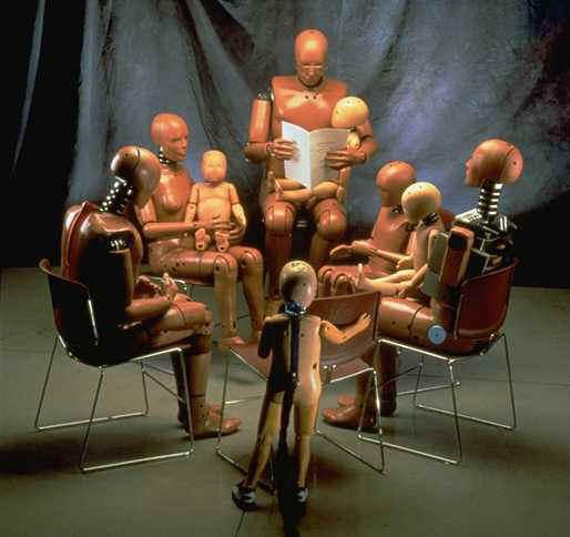dark roasted blend robotic crash test dummies as art. Black Bedroom Furniture Sets. Home Design Ideas