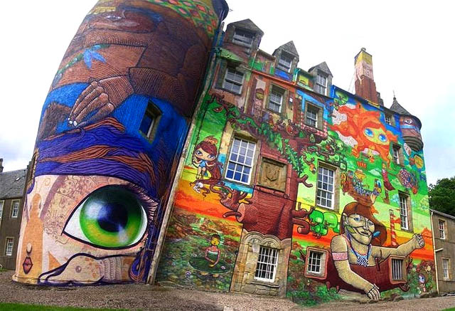 rthergerd Amazing 3D Graffiti Art, Castles and buildings : Part 2