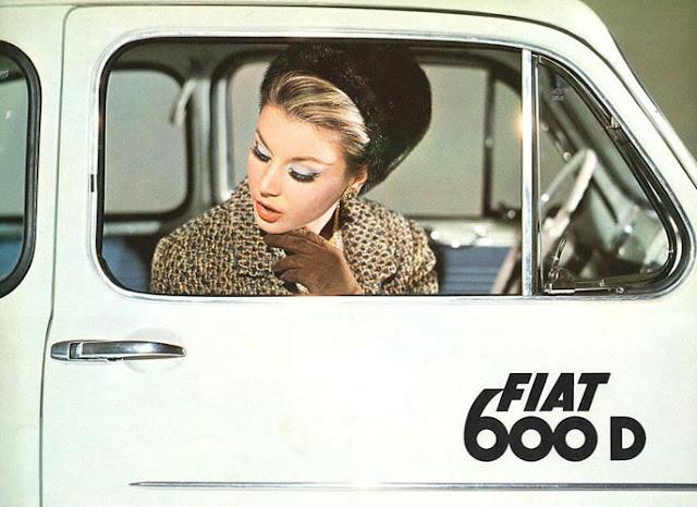 c15 Girls & Cars in European Vintage Ads