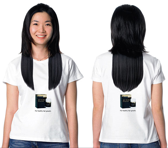 Long Hair T-Shirt Illusion