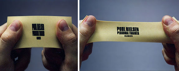 Personal Trainer: Stretchy Business Card