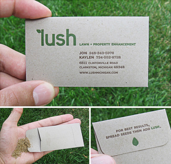 Lush: Business Card Filled With Seeds
