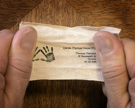 Knot Business Card for Massage Therapist
