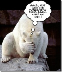 embarassed polar bear