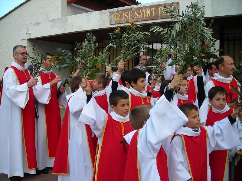 Messe des rameaux à Saint Paul 2009.