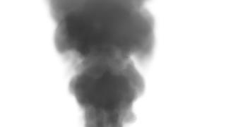 Renderização da fumaça (Gravity: 5; Intensity: 27; Render: None)