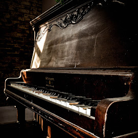 Ivory Tears by Byron Thurman - Digital Art Things ( piano, church, ghost town, rodney, historic, abandoned )