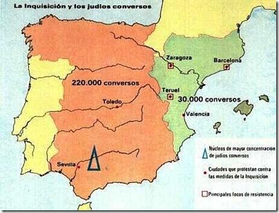 mapa inquisicion judios