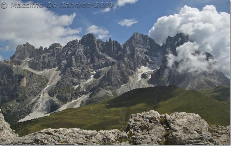 Pale di San Martino dalla vetta del Monte Castellazzo