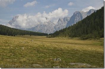 Vista sulle Pale di San Martino