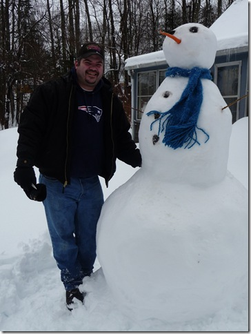 jay and snowman