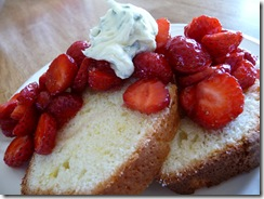 lemon loaf with strawberries
